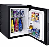 Syntrox Germany 40 Liter Null DB-lautloser Mini Kühlschrank geräuchloser Hotelkühlschrank